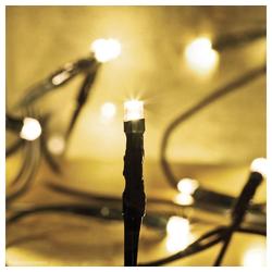 matches21 HOME & HOBBY LED-Lichterkette LED Minilichterkette Mini Lichterkette warmweiß / grünes Kabel 10-flammig, 10-flammig