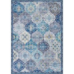 Teppich Kashmir Ghom, ELLE Decor, rechteckig, Höhe 5 mm, Orient Design blau 80 cm x 150 cm x 5 mm