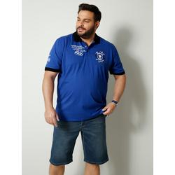 Poloshirt Men Plus Blau
