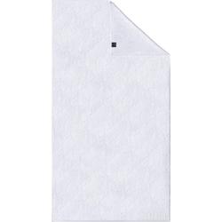 Joop! Duschtuch Uni Cornflower (1-St), mit gewebtem Cornflower Muster weiß