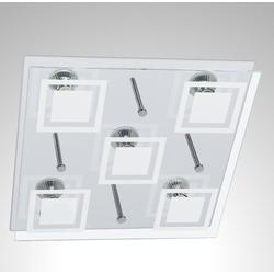 TRANGO LED Deckenleuchte, 5-flammig 3153 LED Deckenleuchte inkl. 5x 3 Watt GU10 LED Leuchtmittel 3000K warmweiß in Eckig *KOI* Badleuchte, Wandleuchte, Wohnzimmer Deckenlampe, Flurlampe, Strahler, Wandlampe, Flurlampe