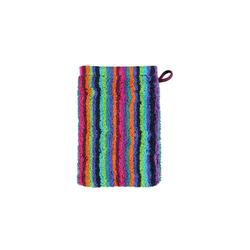 Cawö Waschhandschuh Lifestyle Streifen in multicolor dunkel, 16 x 22 cm