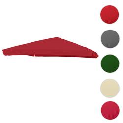 Bezug für Luxus-Ampelschirm HWC-A96 mit Flap, Sonnenschirmbezug Ersatzbezug, 3x3m (Ø4,24m) Polyester 3kg ~ bordeaux
