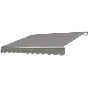 Mendler Alu-Markise T790, Gelenkarmmarkise Sonnenschutz 4x3m ~ Polyester, grau-braun