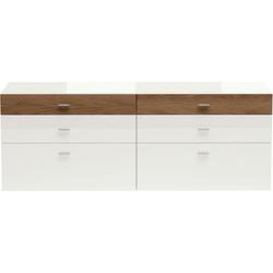 now! by hülsta Sideboard now! no. 14, mit schmaler Holzfront, Breite 210 cm weiß