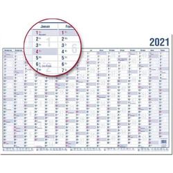 Wandplaner 16 Monate A1 99x60cm abwischbar Nov. 2020-Feb. 2022