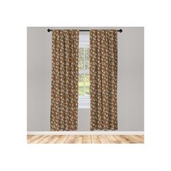 Gardine Vorhang für Wohnzimmer Schlafzimmer Dekor, Abakuhaus, Erdfarben Kakaobohnen Blätter