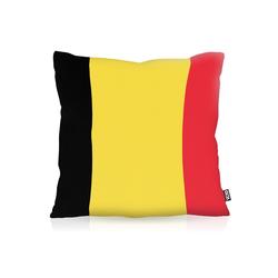 Kissenbezug, VOID, Belgien Belgium EM WM Flagge Fahne Fan Fussball 60 cm x 60 cm