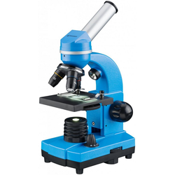 BRESSER junior Mikroskop Schülermikroskop BIOLUX SEL blau