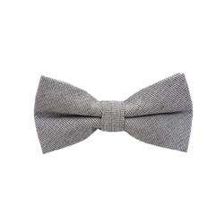 DonDon Fliege DonDon Herren Fliege 12 x 6 cm Baumwolle (1-St) bereits gebunden, verstellbar, Tweedlook grau