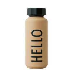 Design letters Thermoflasche in beige