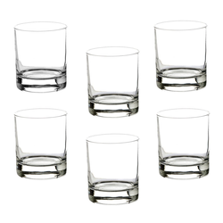 BigDean Whiskyglas 6er Set Whiskygläser Whiskeygläser 300ml spülmaschinenfest, Glas