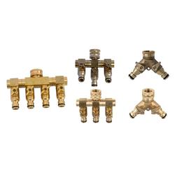 4 Wege Wasserverteiler - 4 Zapfstellen mit unabhängigem Schließmechanismus