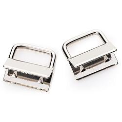 Schlüsselanhänger Schnallen, silber, 10 Stück