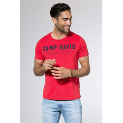CAMP DAVID T-Shirt mit Necktape rot XXL