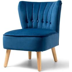 COSTWAY Loungesessel Esszimmerstuhl Wohnzimmerstuhl blau 68 cm x 73 cm x 55 cm