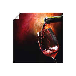 Artland Wandbild Wein - Rotwein, Getränke (1 Stück) 30 cm x 30 cm