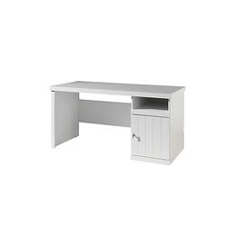 Schreibtisch Jean Vipack mit Ablagefach + Drehtür weiß