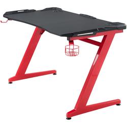 CLP Schreibtisch Rockford, mit integrierten rotleuchtenden LED rot