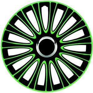 ZentimeX Z733009 Radkappen Radzierblenden universal 17 Zoll green-black