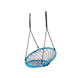 COSTWAY Nestschaukel Hängeschaukel, Baumschaukel, Tellerschaukel, 100-160cm Seil, 150kg Tragkraft blau