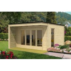 Design Gartenhaus Cubus-Vio-40, ohne Imprägnierung