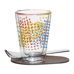 Ritzenhoff Espressoglas A Cuppa Day Farbtupfer Ulrike Vater 80 ml, Glas