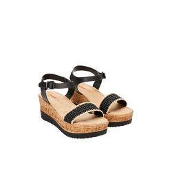 Keilabsatz-Sandalen Damen Größe: 36