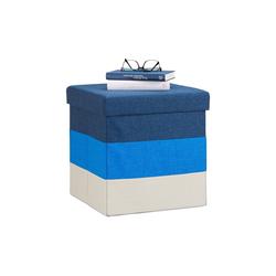 relaxdays Sitzhocker Gepolsterter Hocker mit bunten Streifen