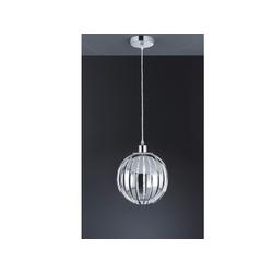 TRIO Pendelleuchte, Design Kugel-lampe einflammig für über Esstisch Couchtisch Kugel-pendel Esszimmertisch, Chrom