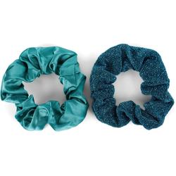 styleBREAKER Haargummi 2-Teiliges Scrunchie Haargummi Set, 2-tlg., 2-Teiliges Scrunchie Haargummi Set blau