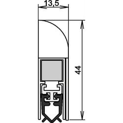 Türdichtung Wind-Ex Nr.1-311 Ausl.1-s.L.860mm HLT