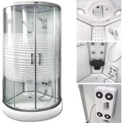 Home Deluxe White Crystel Dampfduschkabine 100x100 cm