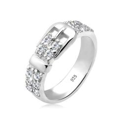 Elli Fingerring Gürtel Swarovski® Kristalle 925 Silber, Gürtel 52