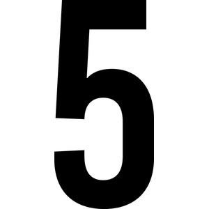 ShirtInStyle Zahlen selbsklebende Aufkleber, von 2-20cm Höhe, Mülltone, Haustür, Basteln, Boote, Nummern, Kennzeichen, Ziffer 5-2cm, schwarz