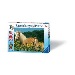 Ravensburger Puzzle Puzzle, 200 Teile XXL, 49x36 cm, Pferdeglück, Puzzleteile