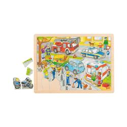 goki Steckpuzzle Einlegepuzzle Polizeieinsatz, Puzzleteile