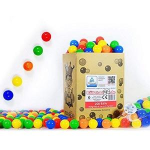 koenig-tom 200 BÄLLE (Tüv geprüft und Zertifiziert 2019) BABYBÄLLE BÄLLE Ball BÄLLCHENBAD PLASTIKBÄLLE NEU ohne gefährliche Weichmacher