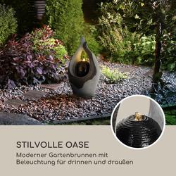Noblino Gartenbrunnen 7W LED-Beleuchtung Polyresin