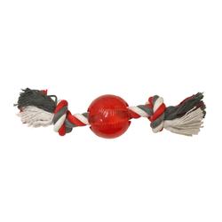 Hundespielzeug Hundeball aus TPR mit Seil MINI für kleine Rassen EXTRA ROBUST