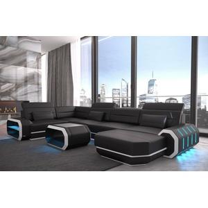 Sofa Dreams Sofa Roma, U Form schwarz