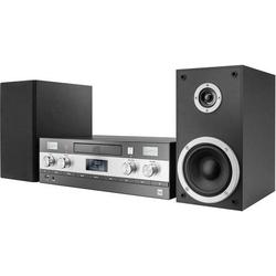 Dual DAB-MS 130 Stereoanlage AUX, Bluetooth®, CD, DAB+, UKW, USB, 2 x 25W Schwarz
