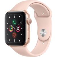 Apple Watch Series 5 GPS 44 mm Aluminiumgehäuse gold, Sportarmband sandrosa