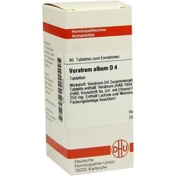 VERATRUM ALBUM D 4 Tabletten 80 St