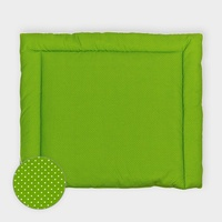 KraftKids Wickelauflage weiße Punkte auf Grün, Wickelunterlage 60x70 cm x 70 cm