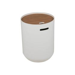 mokebo Couchtisch Die Behüterin, auch als Beistelltisch im skandinavischen Design weiß 39 cm x 53 cm x 39 cm