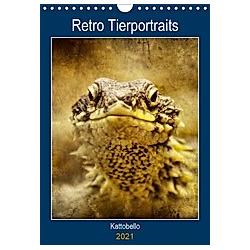 Retro Tierportraits (Wandkalender 2021 DIN A4 hoch)