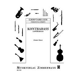 Grifftabelle für Kontrabass - Buch