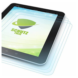 Wigento Tablet-Hülle 3x HD LCD Displayschutz für Apple iPad Air 2020 4. Gen 10.9 Zoll Schutz Folie + Poliertuch