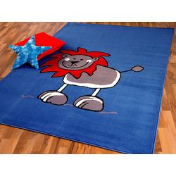 Kinderteppich Kinderteppich Trendline Löwe Blau, Pergamon, Höhe 8 mm 185 cm x 270 cm x 8 mm